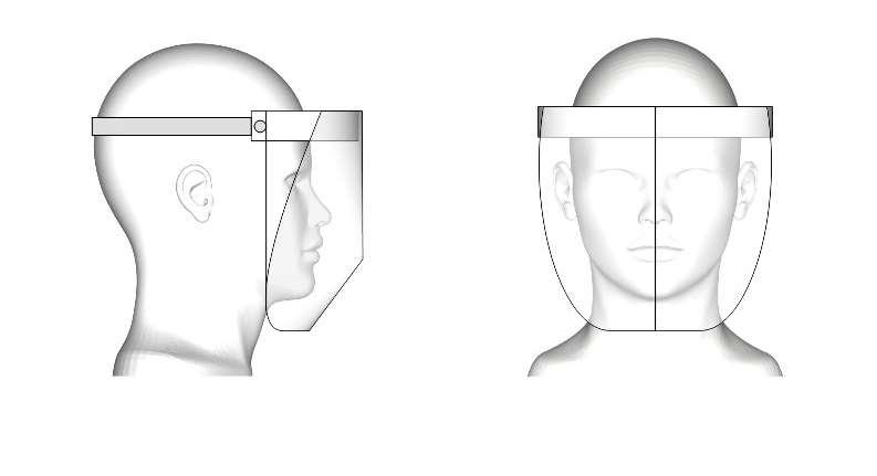 Unsere Faceshield Grafik